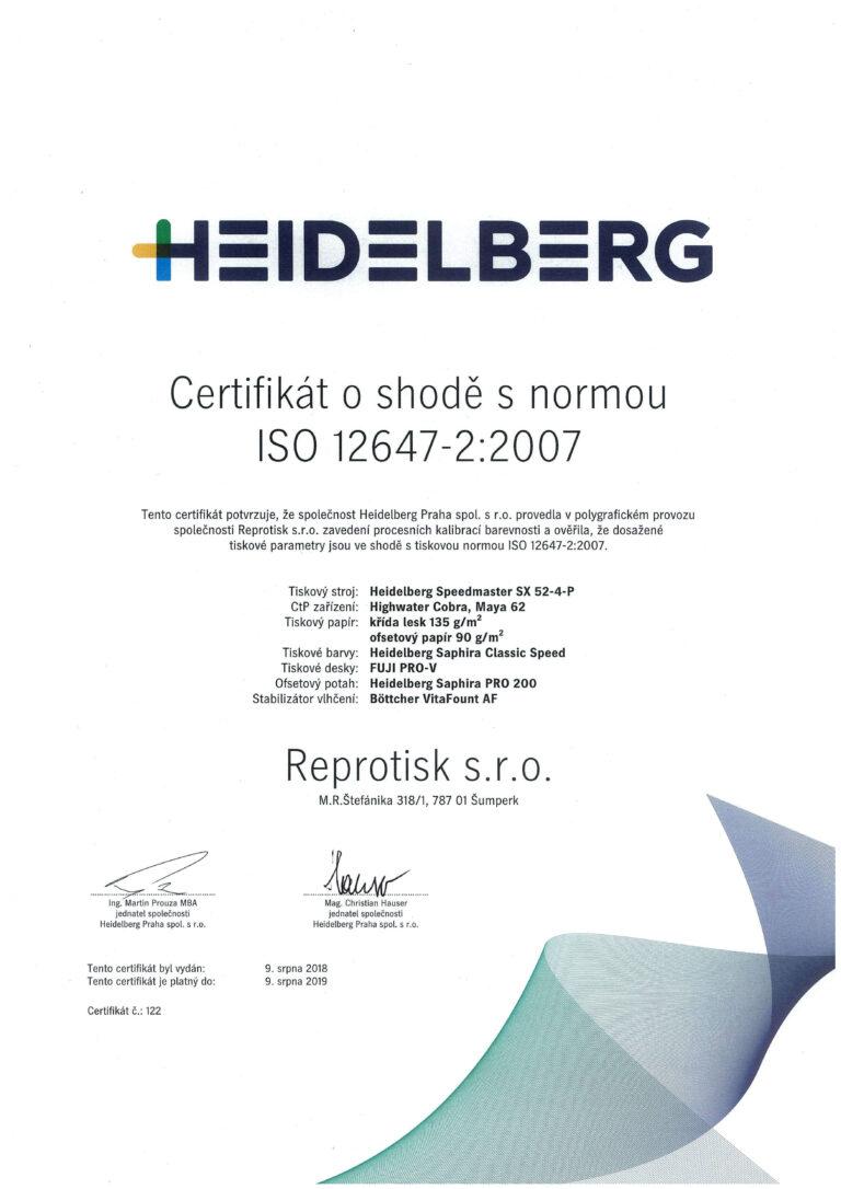 Ofsetový stroj s Certifikátem procesní kalibrace | Reprotisk.cz